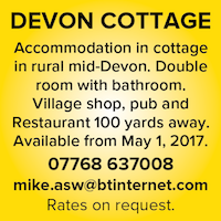Devon cottage naturist holidays breaks village rural uk england nudist naked