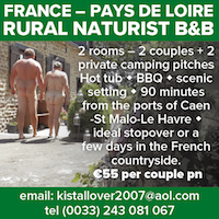 France Pays de Loire French rural naturist B&B bed breakfast countryside naked nudist vacation holidays
