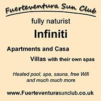 Infiniti Naturists Fuerteventura holidays club nudist naked nude vacations spain