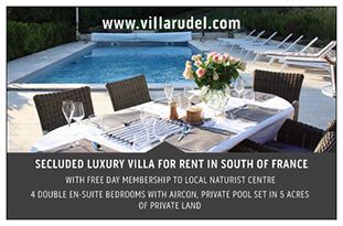 villa rudel rent france naturist holidays vacations nudist naked luxury secluded