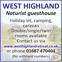 West Highland Naturist Guesthouse Caravan Camping Holidays Scotland