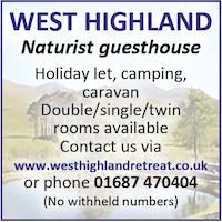 West Highland Naturist Guesthouse Caravan Camping Holidays Scotland