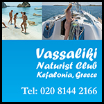 Vassaliki naturist club Greece Kefalonia nudist holidays sailing