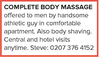 Complete Body Massage Men hotel Steve shaving gay