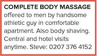 Complete Body Massage Men hotel Steve shaving gay