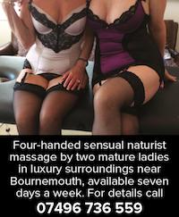 Four hand sensual naturist massage bournemouth luxury mature ladies nudist naked