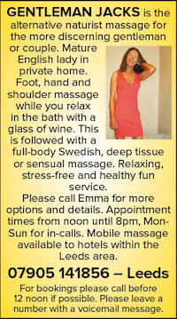 Gentleman Jacks Naturist Nudist Swedish Mature hotels mobile Massage Leeds