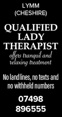 Lymm cheshire qualified lady therapist naturist nudist naked massage