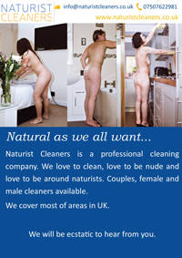 naked nude naturist cleaners cleaning services