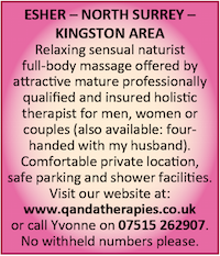 Qanda Therapies Naturist Couples Four Handed Massage Surrey Kingston
