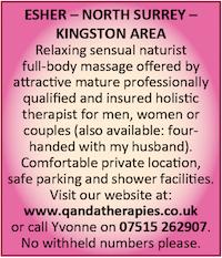 Qanda Therapies Naturist Couples Four Handed Massage Surrey Kingston