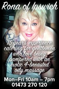 Rona Ipswich naturist naked massage Suffolk gentlemen
