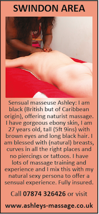Swindon Area Sensual Naturist Massage Ashley