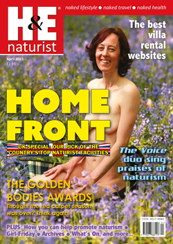 H&E naturist magazine April 2015 issue UK