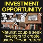 Investment opportunity naturist retreat Devon