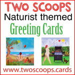 Two Scoops Naturist Greetings Cards
