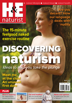 H&E naturist magazine March 2016 nudism naturism naked lifestyle