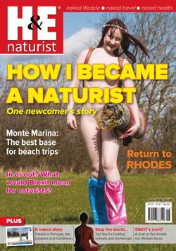 H&E naturist magazine, June 2016 nudist health efficiency