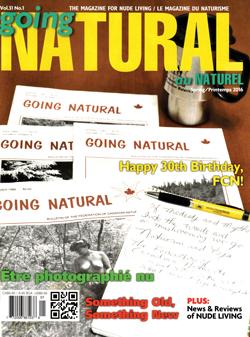 Going Natural Canada naturist magazine nudist Spring 2016