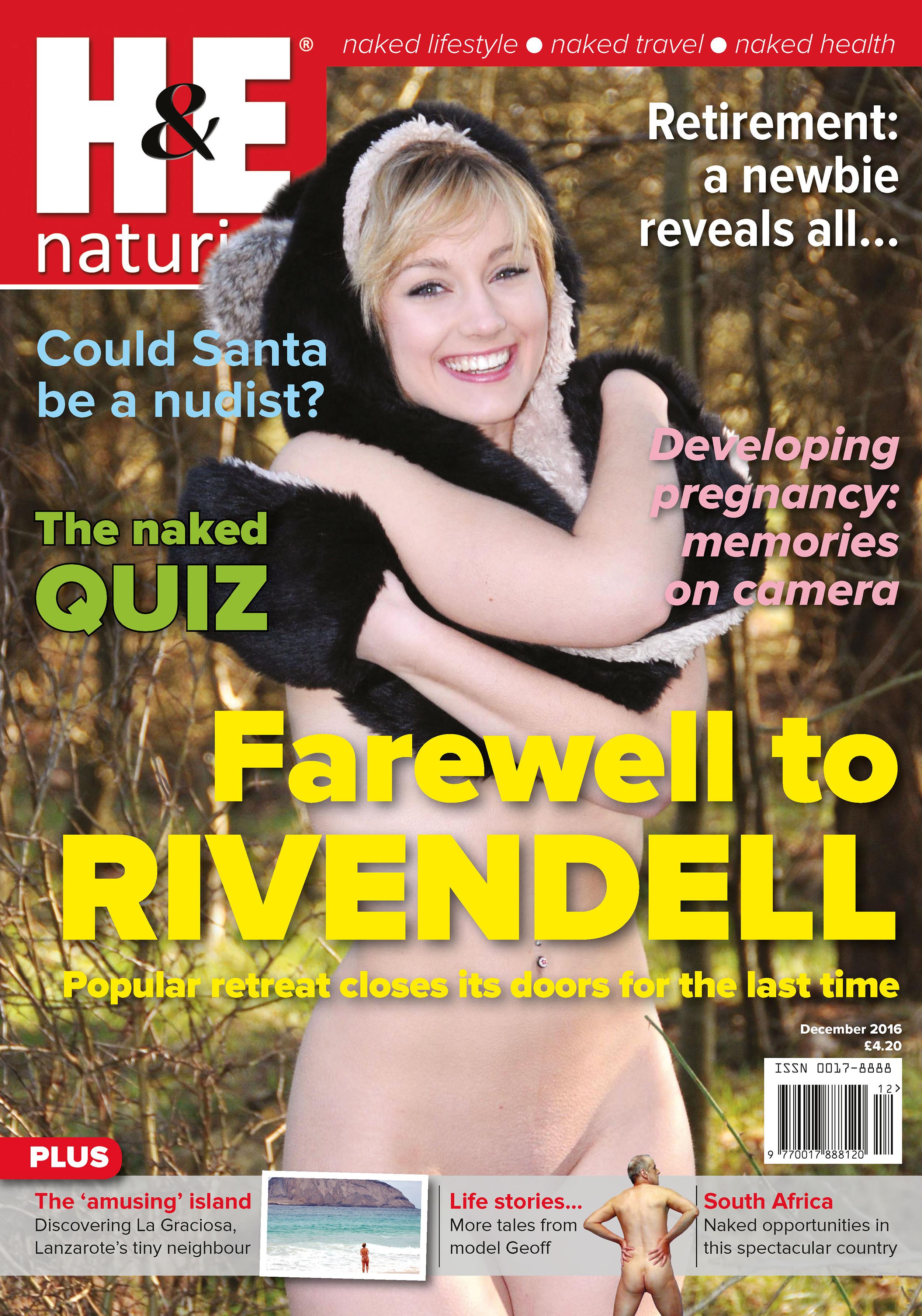 Girl, naturism magazine
