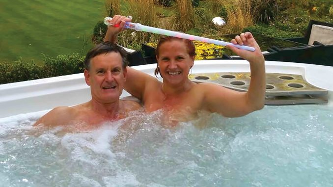 Emma and Tim at Clover Spa