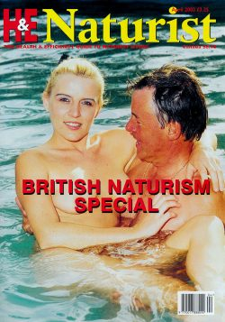 H&E naturist (Health & Efficiency) April 2003. Featuring: British naturism special.