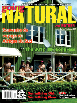 Going Natural Canada naturist magazine nudist Spring 2017