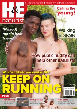 H&E July 2017 naturist magazine health efficiency nudism naked naturists