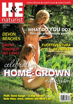 H&E April 2013 naturist nudist magazine health efficiency