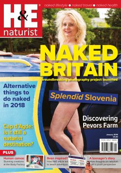 H&E January 2018 naturist nudist magazine health efficiency