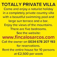 Finca los Arcos spain naturist villa nudist holidays vacation