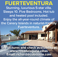 Fuerteventura canary islands naturist villa five star nudist naked holidays vacations