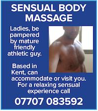 Sensual Body Massage Kent ladies masseur athletic guy naturist nude naked