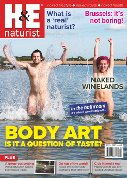 H&E January 2019 naturist nudist magazine health efficiency