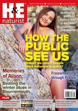 H&E March 2019 naturist nudist magazine health efficiency