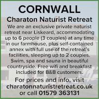 Charaton naturist retreat Cornwall UK B&B nude naked nudist holidays swim spa sauna