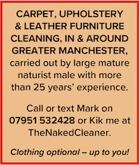 naturist cleaner cleaning greater manchester naked mark mature male carpet upholstery
