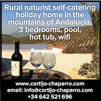 spain self-catering andalucia accommodation naturist nude naked vacations holidays