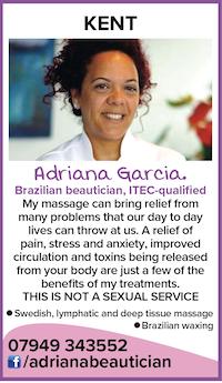 adriana beautician brazilian massage naturist nude naked waxing kent tonbridge gentlemen ladies couples