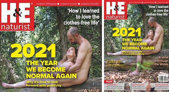 H&E January 2021 naturist nudist magazine health efficiency