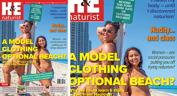 H&E July 2021 naturist nudist magazine health efficiency