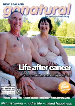 Gonatural 250 – the official magazine of the New Zealand naturist federation, published September-October 2019.