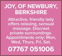 Joy newbury berkshire naturist massage friendly attractive lady sensual naked nude discreet
