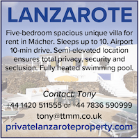 Lanzarote villa naturist private sleeps 10 spain canaries holidays macher property