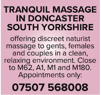 tranquil massage south yorkshire doncaster naked nudist masseuse gents females couples
