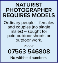 naturist photographer requires models outdoor work paid photography nude naked natural