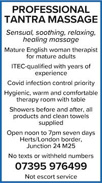 Tantra massage english woman masseuse london herts qualified sensual healing