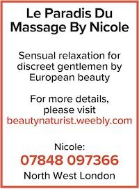 Naturist sensual tantric massage mature brunette north london attractive 40s brunette naked nude Hampstead Garden NW11 Nicole