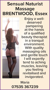 sensual naturist massage brentwood essex maria nudist naked qualified beauty therapist