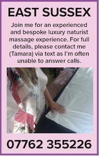 Luxury naturist massage nudist naked nude east sussex tamara